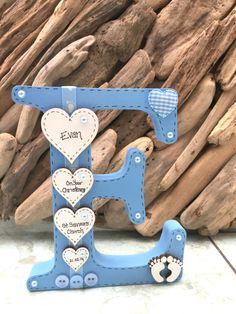 high boy or girl christening gift Personalised Freestanding Wooden Letter New Baby Girl Boy Christening Diy Baby Gifts, Baby Girl Gifts, Baby Crafts, Diy And Crafts, Personalised Christening Gifts, Homemade Baby Gifts, Wooden Crafts, Christening Gifts For Girls, Girl Christening