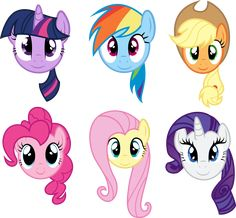 My Little Pony: Friendship is Magic; Main Six Faces Group. Individual Main 6 Faces Main Six Faces My Little Pony Party, Fiesta Little Pony, Cumple My Little Pony, My Little Pony Poster, My Little Pony Costume, Mlp My Little Pony, My Little Pony Friendship, My Little Pony Pinata, My Little Pony Printable