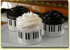 Piano Themed Cupcake Wrappers by Roundabouts