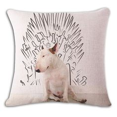 Game Of Throne Bull Terrier Funny Pillow Case