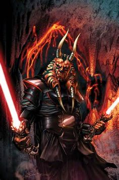 """Darth Wyyrlok - Chagrian Sith Lord who served as Darth Krayt's second-in-command. Briefly replaced Krayt as Emperor after Krayt's apparent death, but was killed by Krayt after he was resurrected. He was the third generation of his family to take the name """"Darth Wyyrlok""""."""