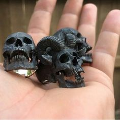 skull rings✖️Fosterginger.Pinterest.Com✖️No Pin Limits✖️More Pins Like This One At FOSTERGINGER @ Pinterest