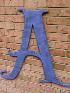 """Distressed Large Letter """"A"""""""