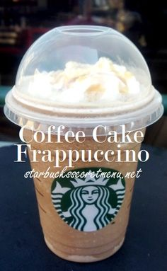 Like coffee and cake? Have the best of both worlds with the Coffee Cake Frappuccino! #StarbucksSecretMenu Recipe here: http://starbuckssecretmenu.net/starbucks-secret-menu-coffee-cake-frappuccino/