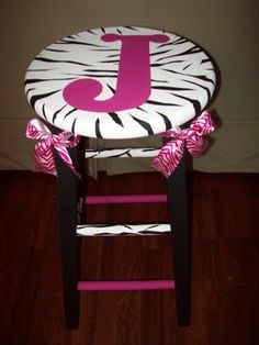 what teacher wants to sit on those little chairs all year?! make them a special stool :)