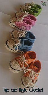 Ravelry: High Top Style Crochet Booties 0-3_3-6 months pattern by Tulip and Thistle Crochet Eire