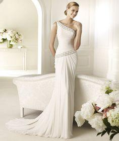 Vestiti Da Sposa Monospalla.19 Fantastiche Immagini Su Abiti Da Sposa Monospalla Abiti Da