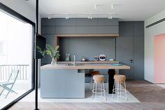 foorni.pl | Mieszkanie z kolorem, szara kuchnia