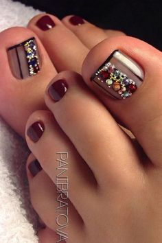 78+ of the best nail art on toes inspiration you must look 31 ~ producttall.com