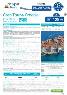 """Gran Tour de Croacia Semana Santa precio final desde 1299€ """"TODO INCLUIDO"""""""
