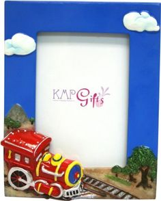 KMP Gifts Red Train Photo Frame by KMP Gifts. $14.99