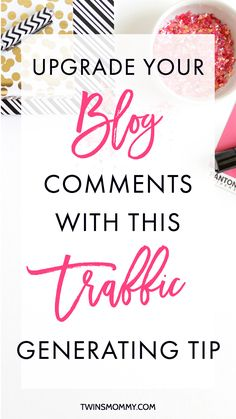 Upgrade Your Blog Comments With This Traffic Generating Tip – Do you spend countless ours going to blog posts and leaving a comment only hoping you'll get some traffic back to your site? If you've been commenting with no results, I have one little traffic generating tip to help you out. Click here to find out what you need to do to upgrade your blog comments today.