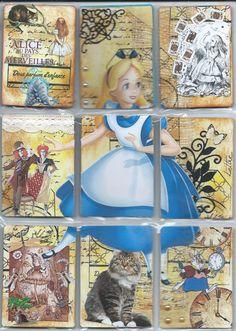 Alice in Wonderland pocket letter Pocket Pal, Pocket Cards, Pen Pal Letters, Pocket Letters, Atc Cards, Paper Cards, Scrapbook Supplies, Scrapbook Cards, Alice In Wonderland Crafts