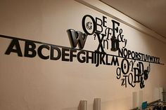 fabulous wall of typography-themed store in Oxford
