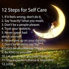 12 steps for self care.