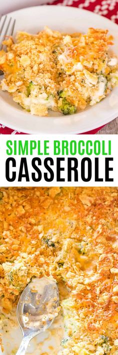 My Simple Broccoli Casserole Recipe is made with fresh broccoli in a luscious cheese sauce. Your family is sure to ask for it over and over again! Easy Broccoli Casserole, Vegetable Casserole, Broccoli Cassarole, Other Recipes, Side Dish Recipes, Veggie Recipes, Best Homemade Spaghetti Sauce, Clean Eating Recipes, Cooking Recipes