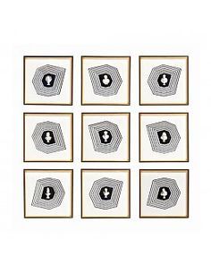ROMAN SHADOWBOX ARTWORK - SET OF 9 Resin Sculpture, Sculptures, Harvey Furniture, Shadow Box, Roman, Wall Art, Frame, Artwork, Handmade