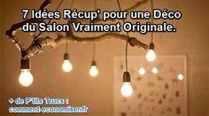 J'adore créer, récupérer et recycler des objets improbables qui finiront en décoration dans ma maison. Voyons ensemble 7 idées récup' pour redonner vie à votre salon à moindre coût.  Découvrez l'astuce ici : http://www.comment-economiser.fr/recup-deco-salon.html?utm_content=buffercc7eb&utm_medium=social&utm_source=pinterest.com&utm_campaign=buffer