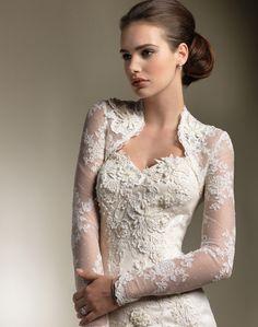 wedding dress vintage long sleeves