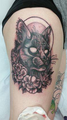 Meet 'Devil Cat' by Alisha Harding Explosive Tattoos Newark DE