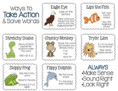 Crazy for First Grade: Reading Strategy Posters {Freebie}- Just ...