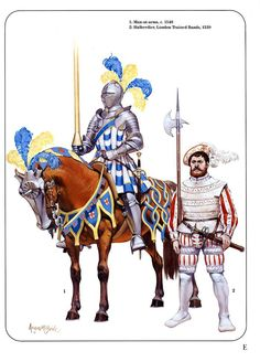 Knight and Halberdier..