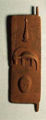 Baule, Cote d'Ivoire. Granary shutter - The Israel Museum Permanent Galleries