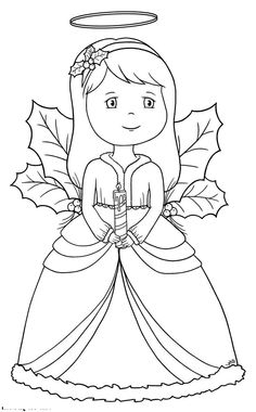 beautiful angel and candle christmas coloring pages for kids printable christmas angels coloring pages for kids - Coloring Pages Beautiful Angels