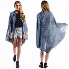 """""""Cinderella"""" Cocoon Kimono Cardigan Scarf Cocoon kimono cardigan scarf. A perfect addition to any outfit. Available in dusty blue and dusty pink. One size fits most. Brand new. NO TRADES. Bare Anthology Jackets & Coats"""