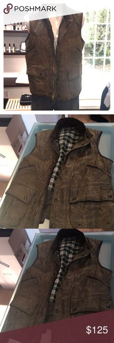 Ralph Lauren Field Vest Leather Trim Flannel lined Vest.  I love it, but it is just not my style. Worn maybe once or twice. Got it when I worked for Ralph Lauren Polo by Ralph Lauren Jackets & Coats Military & Field