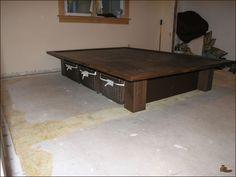 Project: platform bed with basket storage - instructions.