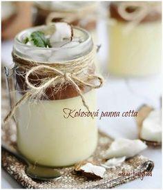 .. chute a vône mojej kuchyne...: Kokosová panna cotta s čokoládovou polevou