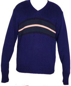POLO By Ralph Lauren Blue 100% Cotton Knit Crewneck Long Sleeve Sweater Size XL #RalphLauren #Crewneck