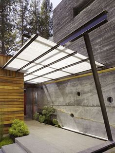 wood texture steel outdoor modern entry concrete  Japanese Trash masculine…