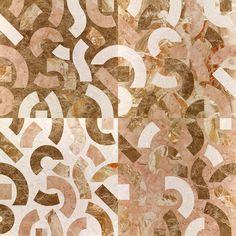 Marqueterie de marbres «Perle et Musc», Anemone, design Raffaello Galiotto…