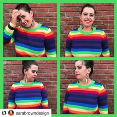 Rainbow jumper  #Repost @sarabrowndesign (@get_repost)  1st part of my rainbow jumper series this has probably been my main obsession this season all I want it more rainbow fashion colourful joy for Christmas week this jumper is from @asos_loves_curve and I made the earrings #christmasweek #rainbow #rainbowjumper #rainbowstripe #asos #plusisequal #asoslovescurve #blogger #fashionblogger #plussizeblogger #psootd #curvygirl #plussize #plussizefashion  #effyourbeautystandards #mystylishcurves…