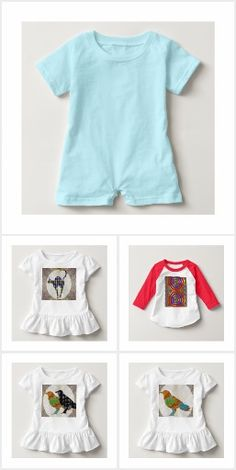 FASHION  TODDLERS Rompers Ruffles Raglans