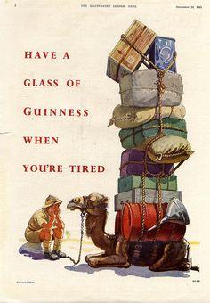 Guinness-camel-1945 by jbrookston, via Flickr