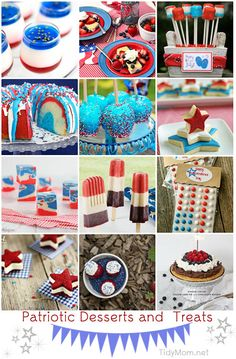 Patriotc Desserts and Treats at TidyMom.net