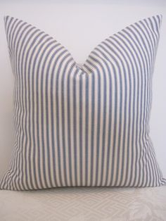 French ticking pillows.