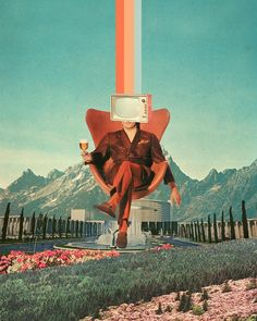 Frank Moth, a self-taught digital collage artist with his other half. This post features frank moths artwork and my poetry adaptation of it. Collage Kunst, Surreal Collage, Surreal Art, Collage Art, Digital Collage, Collages, Retro Futuristic, Arne Jacobsen, Photo Wall Collage