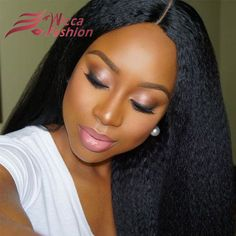 7A Full Lace Human Hair Wigs Virgin Peruvian Hair Kinky Straight Lace Front Wigs Yaki Straight Lace Wigs For Black Women Kinky Straight Wig, Straight Lace Front Wigs, Straight Hair, Straight Weave, 100 Human Hair Wigs, Wigs For Black Women, Wig Hairstyles, Amazing Hairstyles, Hairdos