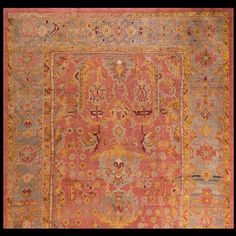 Stock Id: #20299    General Rug Type:       Turkish Decorative    Specific Rug Type:       Oushak    Circa: 1880    Color: Coral Red    Origin: Turkey    Width: 11' 6'' ( 350.5 cm )    Length: 19' 0'' ( 579.1 cm )