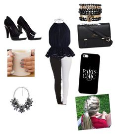 """""""Black And White outfit"""" by mackenziesk ❤ liked on Polyvore"""