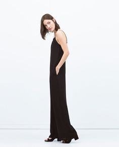 Image 3 of LONG JUMPSUIT WITH OPEN BACK from Zara