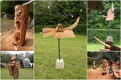 New sculptures made during the art festival Kunst in Duin 2012