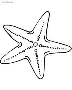 free star fish coloring page paint with glue then sprinkle with oatmeal for texture - Starfish Coloring Pages