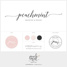 A premade elegant handwritten-style logo design and branding kit for photographers, fashion bloggers and stylish businesses. Features a