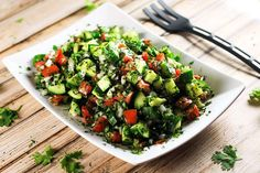 Persian Shirazi Salad - Lightweight and delicious salad that goes with literally anything! It longer it stays, the better it tastes. This is definitely going to become a staple in your house! | ScrambledChefs.com