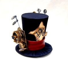 Tiny Top Hat Steam Punk Mad Hatter  Alice in by littlecasaroo, $50.00
